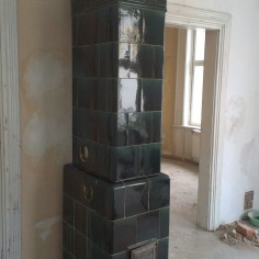Sloupová kamna - rekonstrukce